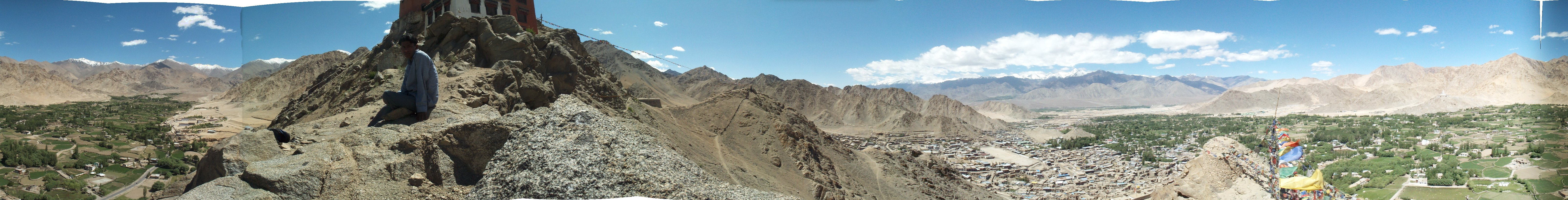 From Leh Palace, overlooking Leh and hills