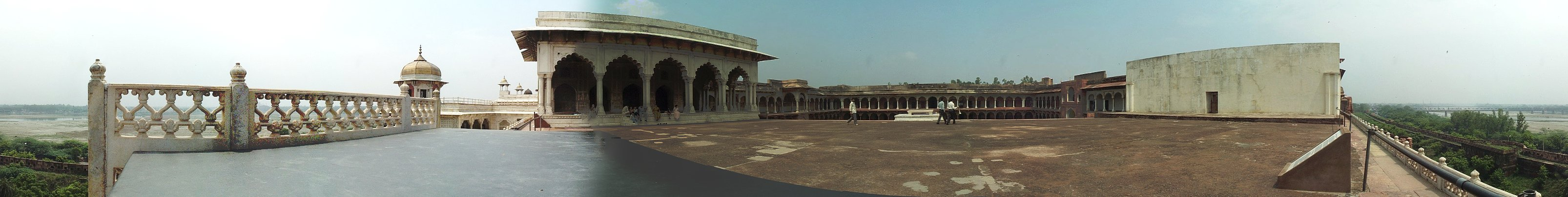 The Red Fort in Agra, across the river from the Taj Mahal